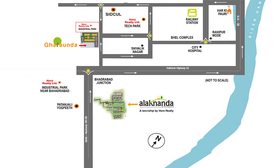 Alaknanda Location Map
